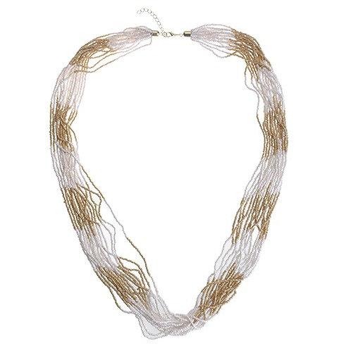 Loren Necklace white & gold
