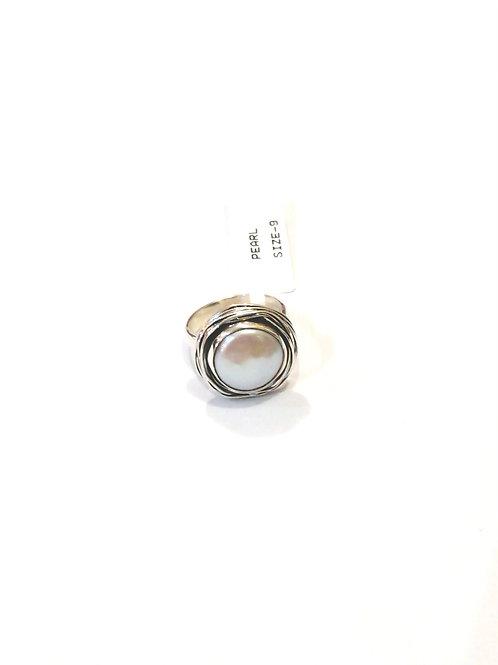 Caspian Pearl Sterling Silver Ring