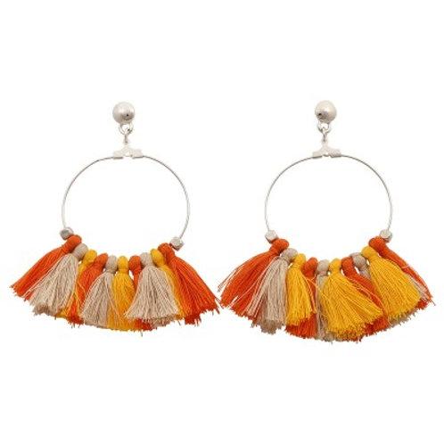 Quilla Earrings Orange