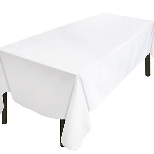 White table cloths to fit 2.4m trestle table HIRE
