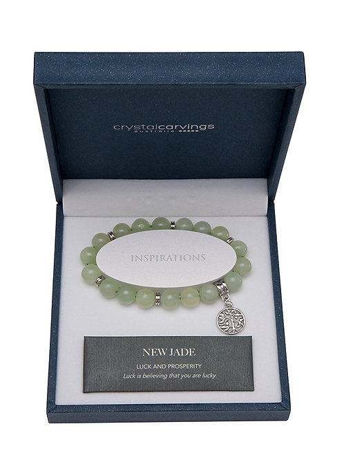 New Jade Tree Of Life Charm Bracelet Boxed