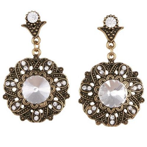 Cadence drop earrings bronze