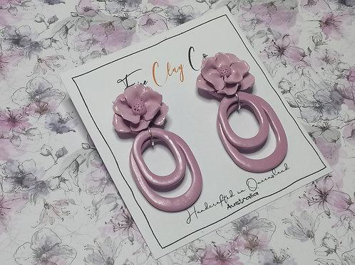 Fire Clay Co Hannah Drop Earrings Blush
