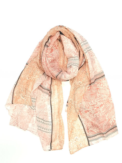 Pipi Scarf with Peach & Pink