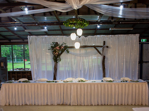 6m White Table skirt HIRE