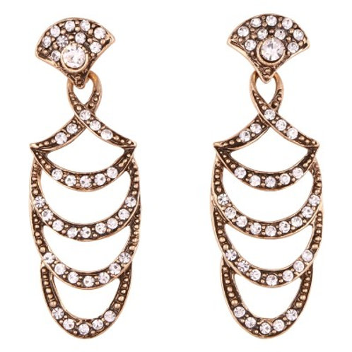 Clarice drop earrings bronze