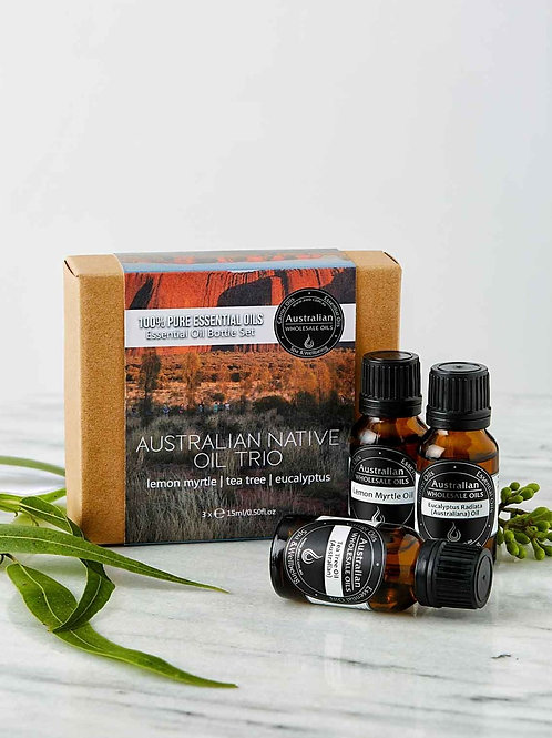 Essential Oil Bottle Set - Australian Native Oil Trio