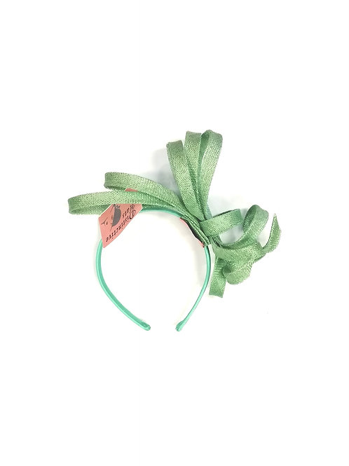 Delia Fascinator Sea Green