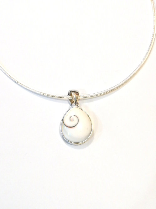 Sterling Silver Collar with Large Shiva Eye Pendant