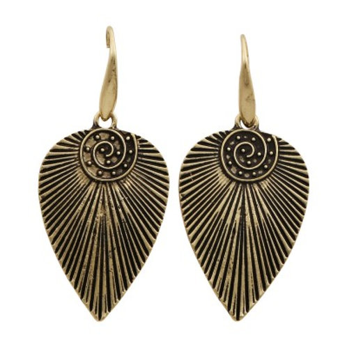 Mohican Earrings Bronze