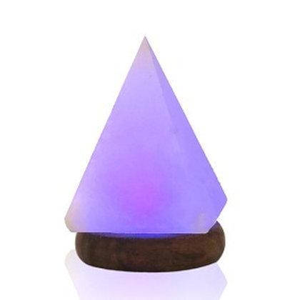 USB Himalayan Salt Lamp Pyramid MULTICOLOR