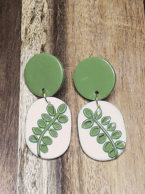 Wild and Free Olive Leaf drop earrings