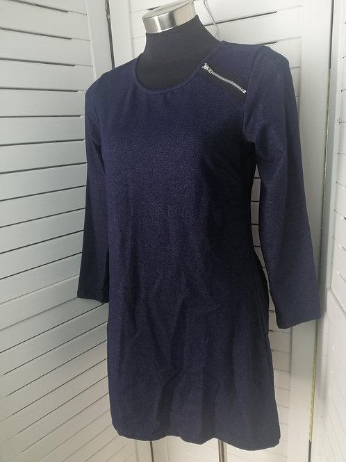 Stretch Knit Tunic Dress Navy