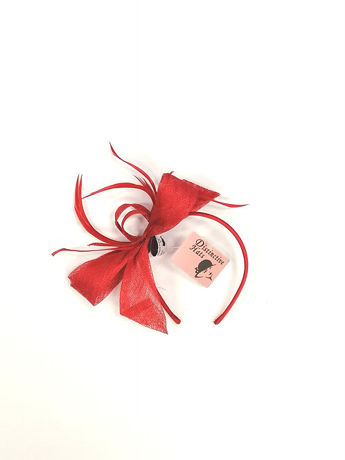 Marlo Fascinator Red