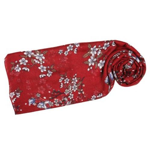 Sakura Scarf Red