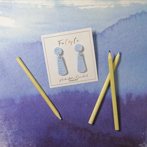 Fire Clay Co Tiggy Drop Earrings Cornflower Blue
