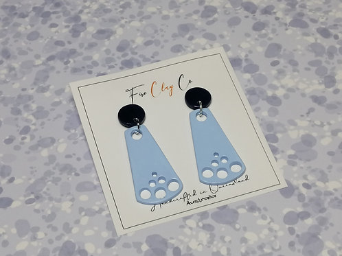 Fire Clay Co Dana Drop Earrings Blue and Navy