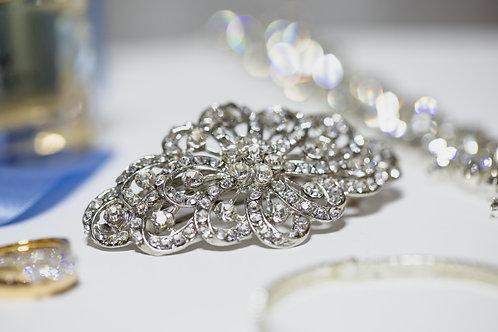 Ornate Diamante Vintage Hair Clip HIRE