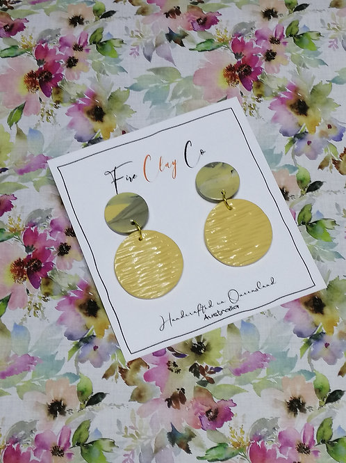Fire Clay Co Candy Drop Earrings Latte and Grey