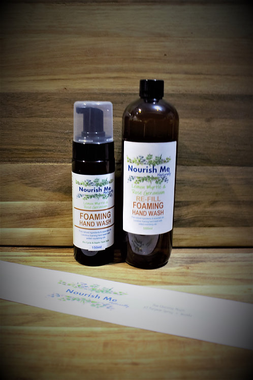 Nourish Me Naturally Foaming Hand Wash Pump & RE-FILL
