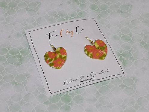 Fire Clay Co Whimsy Earrings Floral