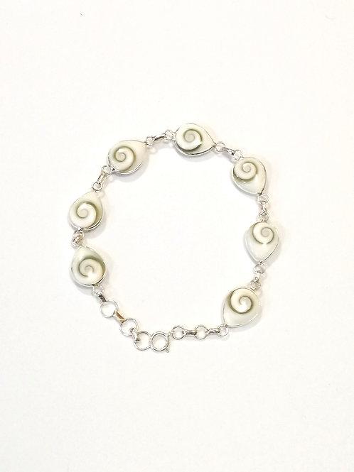 Sterling Silver bracelet with Shiva Eye