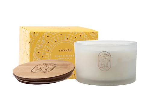 Distillery Soy Candle 450g AWAKEN Lemon Blossom & Summer Moss
