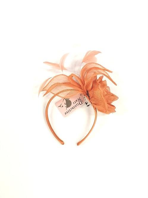 Rose Fascinator Soft Orange/Salmon