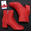 Thumbnail: Red Suede Ankle Boots