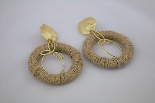 Gold & twine wrap Bo-Ho Earrings