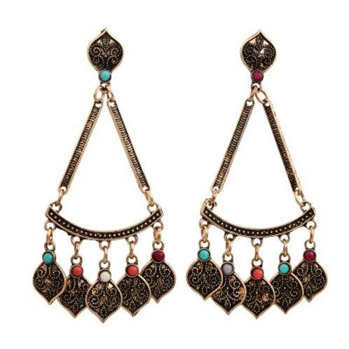 Filigree Earrings Multi