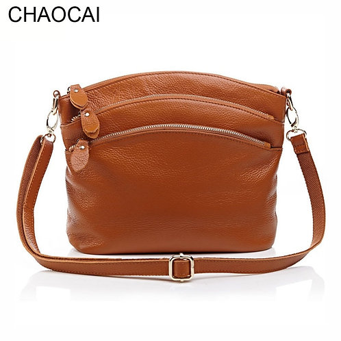 Fashion Women Handbag Genuine Leather Shoulder Bag Cow Leather Cross-body Bag