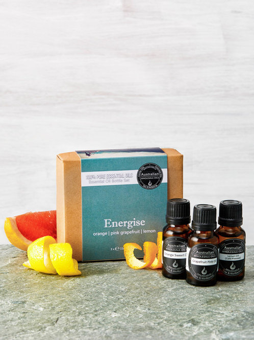 Essential Oil Bottle Set - ENERGISE