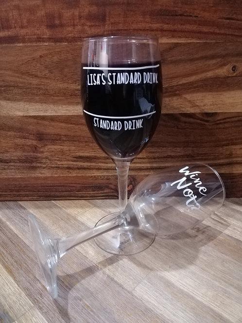 Novelty custom glass ware.