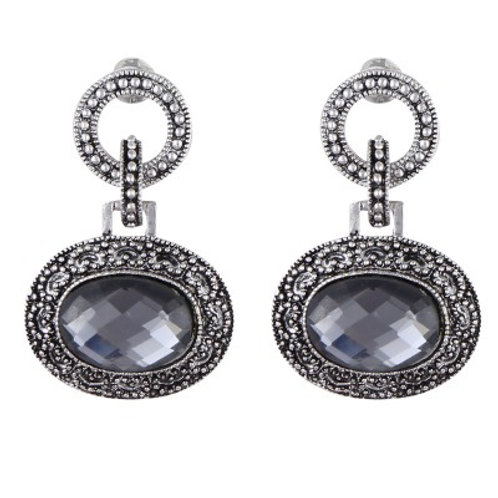Sascia drop earrings silver