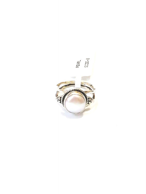 Caprice Pearl Sterling Silver Ring