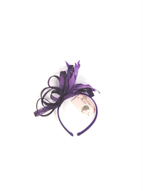 Flo Fascinator Purple