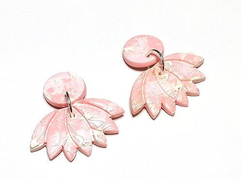 Fire Clay Co Lotus Drop Earrings