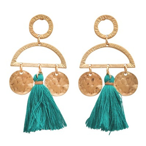 Cleo Earrings Teal