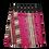Thumbnail: Reversible cotton wrap skirt Aztec Faieri Pink/Blue