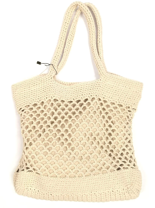 Mandy Macrame Bag Cream