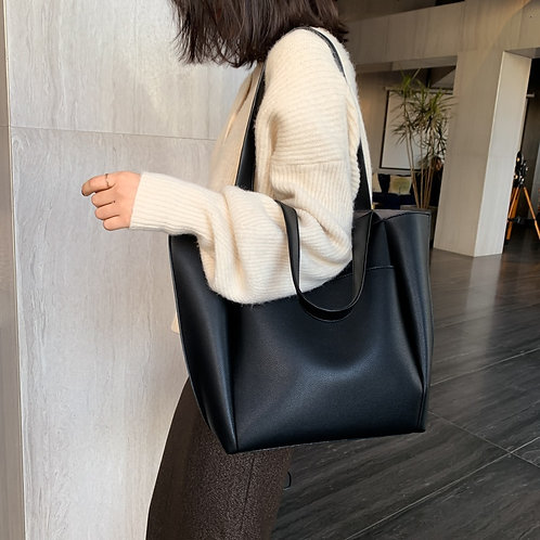 Large Women's Bag Large Capacity Shoulder Bags High Quality PU Leather