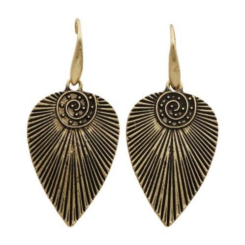 Mohican Earrings Bronze