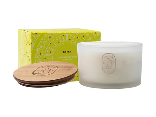 Distillery Soy Candle 450g BLISS Lemongrass, Lime & Ginger