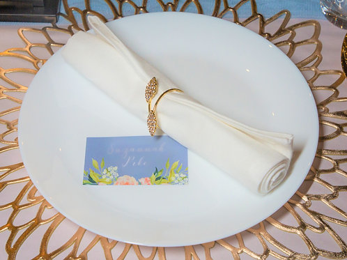 Gold fleck or white cotton napkins HIRE