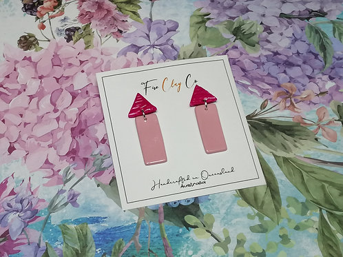 Fire Clay Co Bromley House Drop Earrings Pinks
