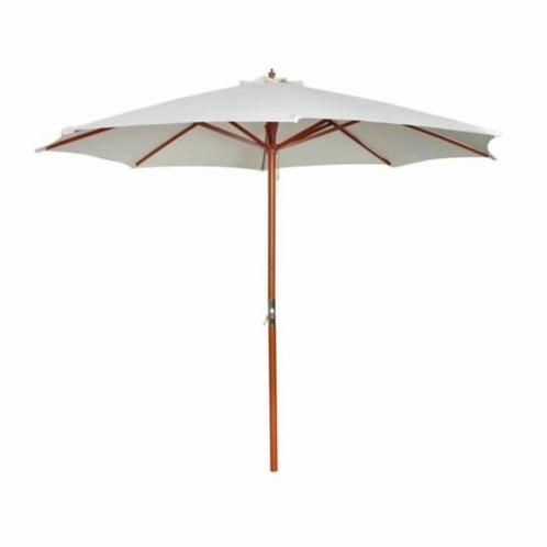 3M WHITE garden umbrellas with warm white lights HIRE