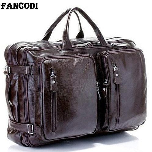 Multi-Function Full Grain Genuine Leather Luggage Travel Bag Duffle/ Weekend Bag