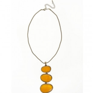 Trio Mustard necklace