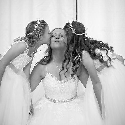 Encrusted Cubic zirconian Bridal Sash HIRE